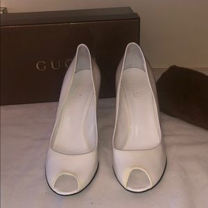 Gucci White Wedges (pre-owned) size 9.5